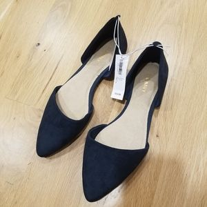 Old Navy Pointy- Toe D'Orsay Blue Flats